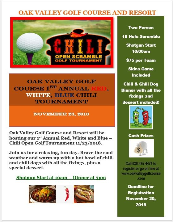 Oak Valley 1st Annual Red, White, Blue Chili Tournament
